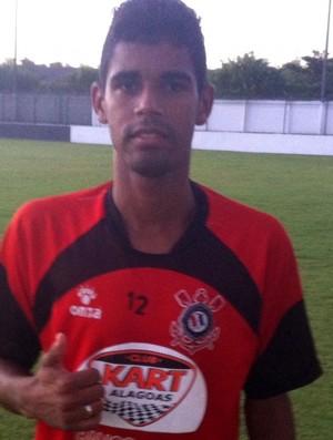 Aderlan é o novo lateral do Corinthians-AL (Foto: W9 Sports Divulgação Corinthians-AL)