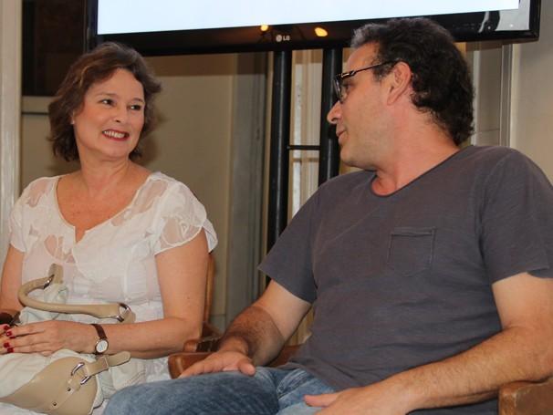Louise Cardoso e Marco Ricca estão no telefilme (Foto: Divulgação / TV Globo)
