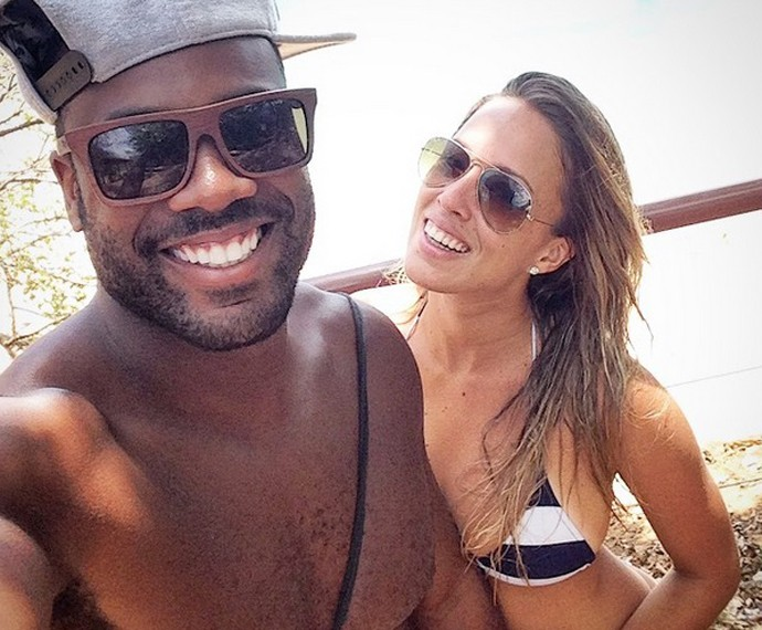 Rafael Zulu e Eryz Martins namoram há um ano e quatro meses (Foto: Arquivo Pessoal)