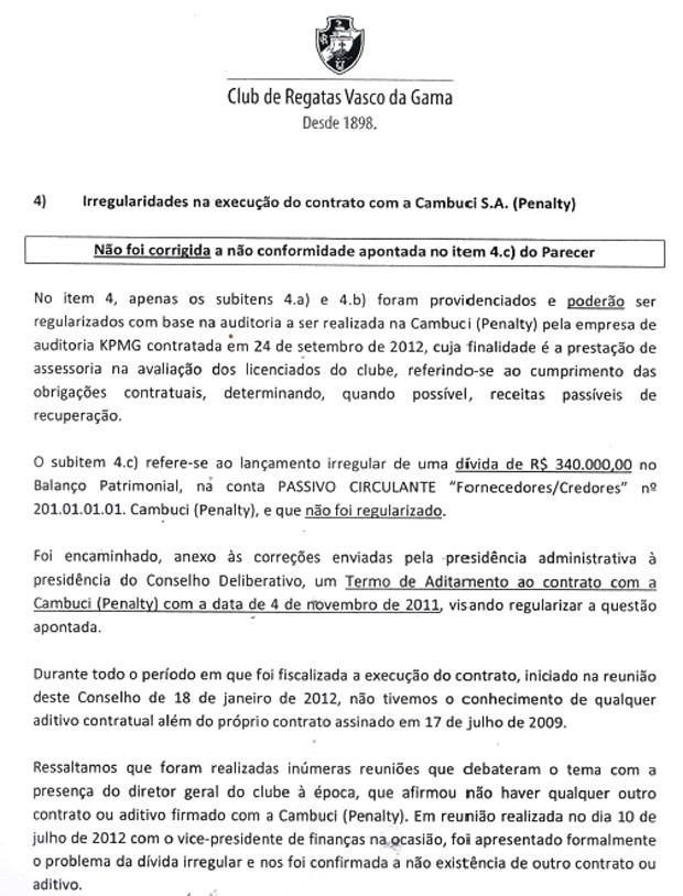 Documento Vasco Penalty programa de sócios 2 (Foto: Reprodução)