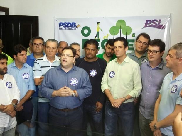 Daniel Coelho confirmado candidato na convenção do PSDB no Recife (Foto: Pedro Lins/ TV Globo)
