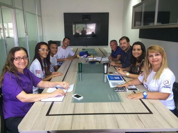 FEMAG e TV Mirante reunidos no projeto 'Ginástica nos Bairros' (Foto: Zeca Soares / G1)