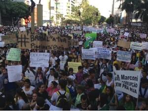 Multidão em Goiânia (Foto: Guilherme Gonçalves/G1)