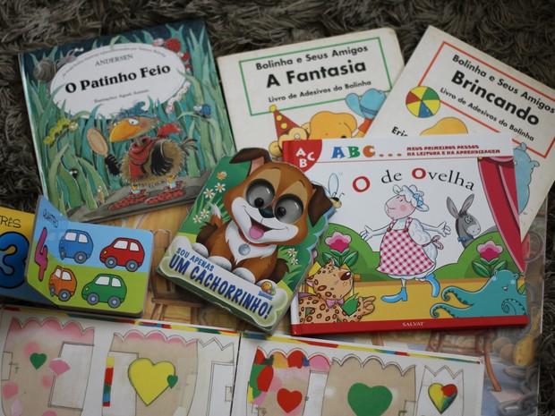 Livros ajudam a desenvolver criatividade das crianças. (Foto: Marcelo Carloni/TV Diário)