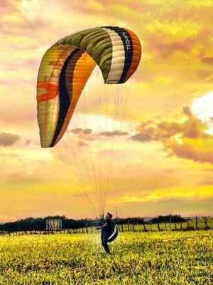 Elvecio Campos voo livre Divinópolis MG  (Foto: Elvecio Campos/Arquivo pessoal)
