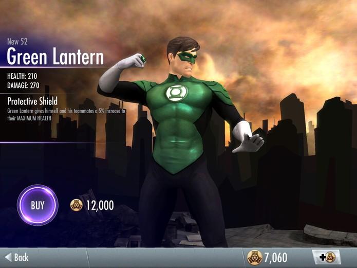 Skins de Injustice: Lanterna Verde New 52 (Foto: Reprodução/Felipe Vinha)