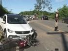 Morre motociclista atingido por carro em acidente na BR-458, em Ipatinga