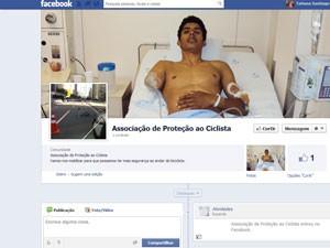 Ciclista atropelado cria página de associação no Facebook (Foto: Divulgação)