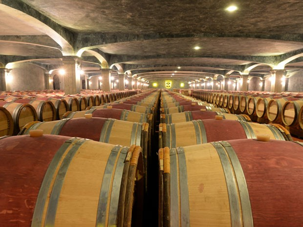 Barris da vinícola Chatêau de Smith Haut Laffite, perto do spa do vinho (Foto: Jean Pierre Muller/AFP)