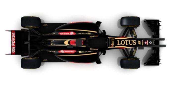 Lotus E22 vista de cima (Foto: Divulgação/twitter)