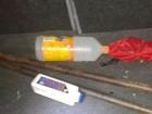 Após troca de tiro na BA, PM captura  bastões de explosivo e carro roubado