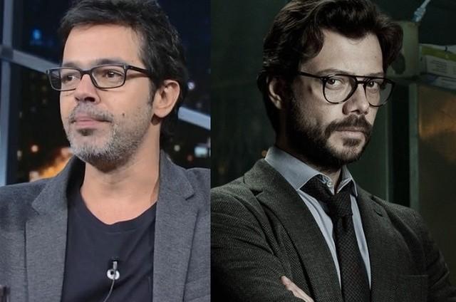 Bruno Mazzeo e Álvaro Morte (Foto: Reprodução / Twitter)