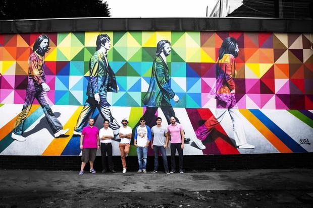 Sócios Bruno Ferraro,Denis Nicolini, Eduardo Kobra, Leo Cury, Lucas Santi e Renato Cury (Foto:  Giuliano Agnelli/Divulgação)