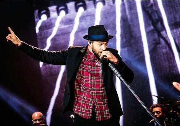 Justin Timberlake no Rock in Rio (Foto: Felipe Ferreira Vieira/Instagram/Reprodução)