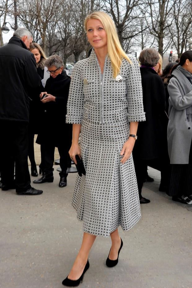 Gwyneth Paltrow no desfile da Chanel em Paris (Foto: AKM-GSI Brasil)