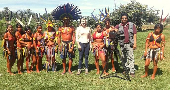 É Bem Mato Grosso conhece os índios da aldeia Meruri. (Foto: Reprodução/É Bem MT)
