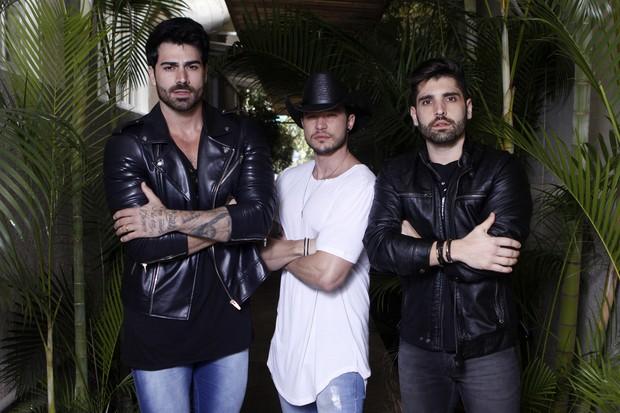 Rodrigão, Bruno Araújo e João Gabriel: juntos no projeto sertanejo Os Marvados (Foto: Celso Tavares/EGO)