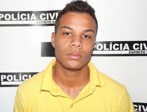 Suelck, atacante do Linhares, foi preso por tentativa de homicídio (Foto: Divulgação/Polícia Civil do ES)