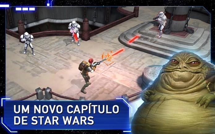 Novo jogo de Star Wars está todo em português e possui campanha extensa (Foto: Divulgação / Kabam)