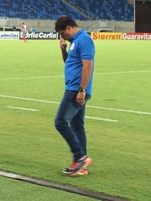 Marcelo Martelotte, técnico do América-RN (Foto: Augusto Gomes/GloboEsporte.com)