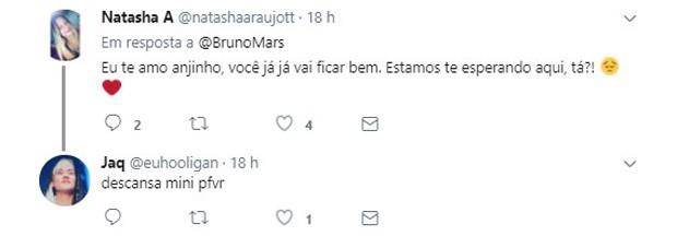 Fãs brasileiros reagem a cancelamentos de show de Bruno Mars nos EUA (Foto: Reprodução/Twitter)