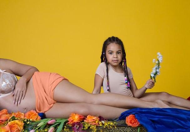 Beyoncé, sua segunda gravidez e Blue Ivy (Foto: Reprodução/Beyonce.com)