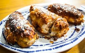 Receitas da Carolina - Peito de frango empanado