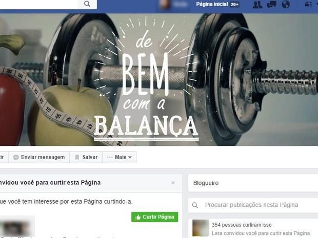 Em página no Facebook, Larissa posta sobre hábitos saudáveis com seguidores  (Foto: Reprodução/Facebook)
