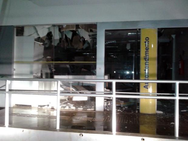Quatro homens explodem agência do Banco do Brasil em Paraibano, MA (Foto: Divulgação/Polícia)