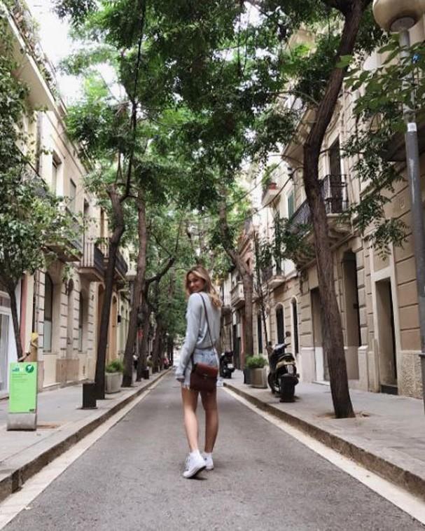 Sasha curte Espanha (Foto: Reprodução/Instagram)