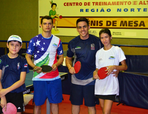 Tênis de mesa Manaus (Foto: Michael Dantas/Sejel)