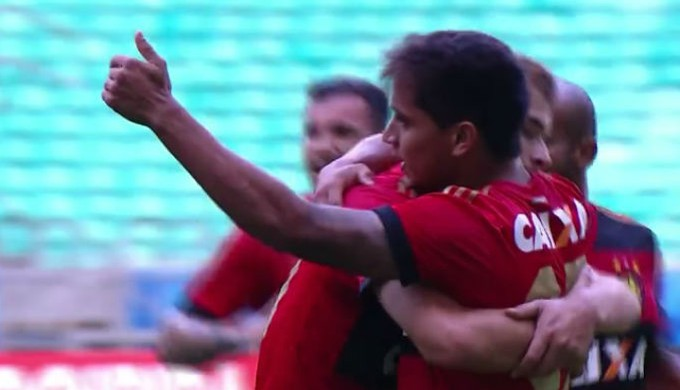 Frame Everton Felipe Sport Bahia (Foto: Reprodução)