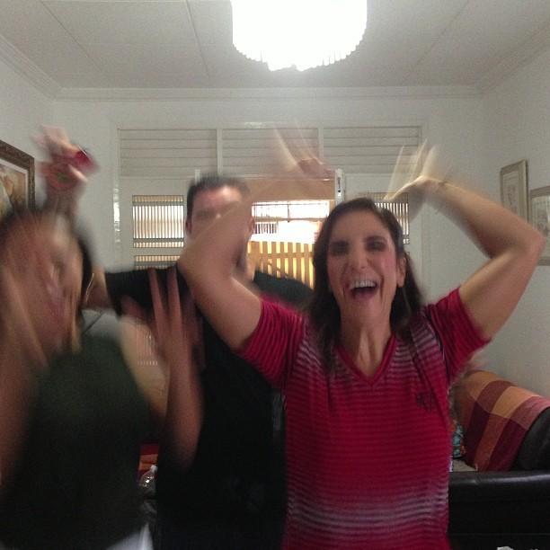 Ivete torcendo pelo Vitória (Foto: reprodução/instagram)