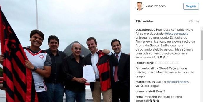 Eduardo Paes Bandeira flamengo (Foto: Reprodução instagram)