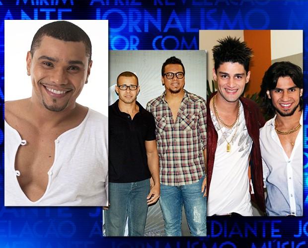 Naldo, Sorriso Maroto e Munhoz & Mariano (Foto: Domingão do Faustão / TV Globo)