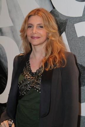 Maria Padilha na estreia da peça Incêndios (Foto: Anderson Borde / AgNews)