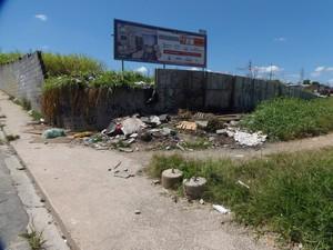 Proprietário já foi notificado, porém mato alto continua em terreno no bairro do Caputera, em Mogi das Cruzes (Foto: Ivan dos Santos Araújo/ VC no G1)