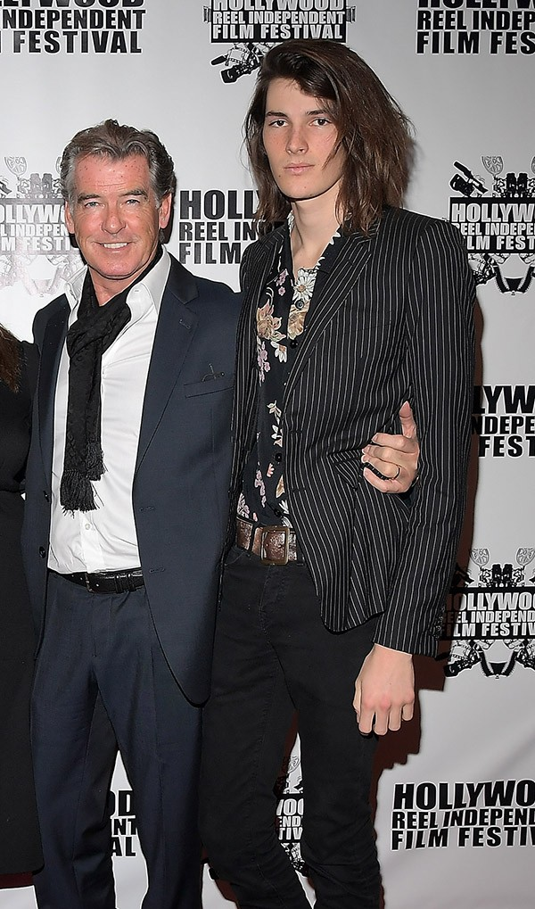 Dylan Brosnan e Pierce Brosnan (Foto: Getty Images)