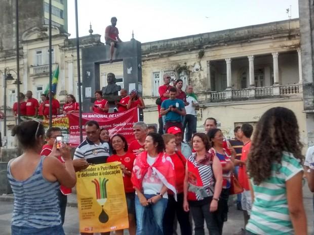 Manifestação em João Pessoa (Foto: G1)
