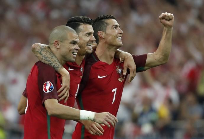 Cristiano Ronaldo Portugal x Polonia (Foto: Reuters)