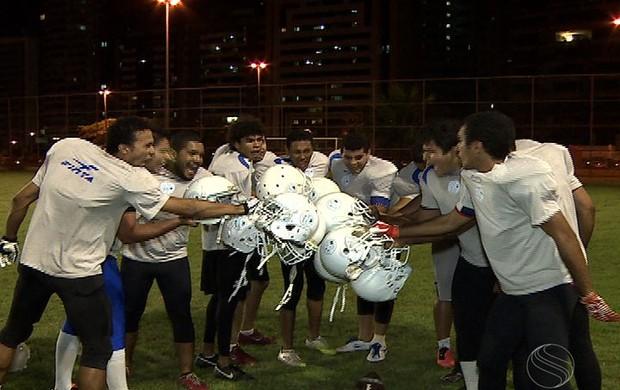 Confiança vai disputar Brasileiro de Futebol Americano (Foto: Reprodução/TVSERGIPE)