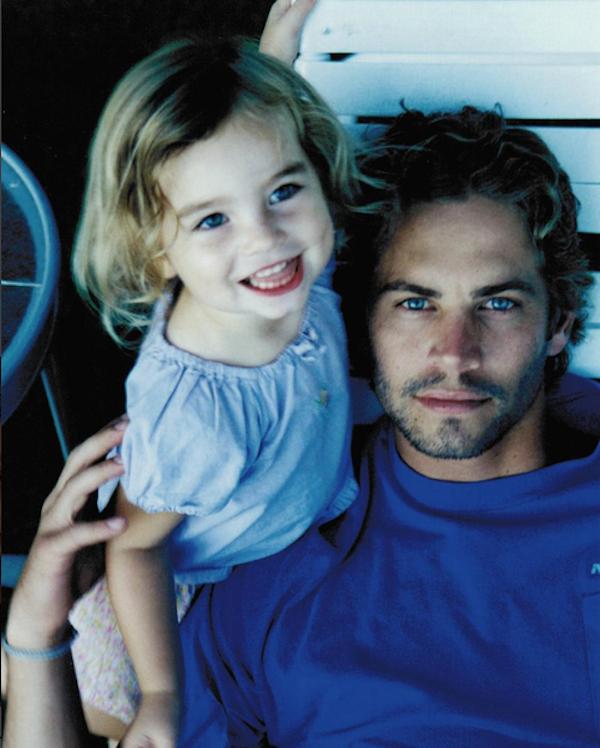 O ator Paul Walker e a filha, Meadow (Foto: Instagram)
