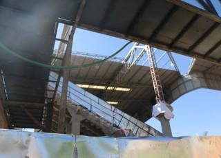 Obras Estádio Nemesio Díez Toluca Grêmio Libertadores (Foto: Eduardo Moura/GloboEsporte.com)