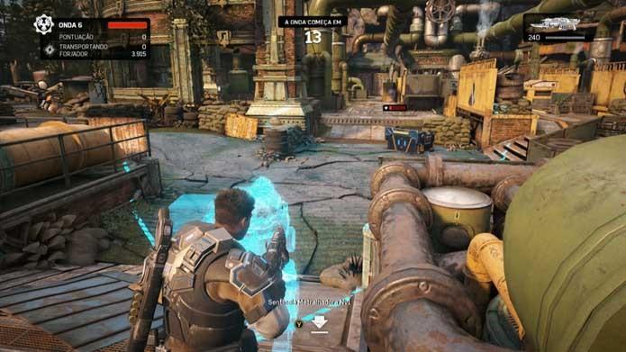 Posicione seus itens estrategicamente em Gears of War 4 (Foto: Reprodução/Murilo Molina)