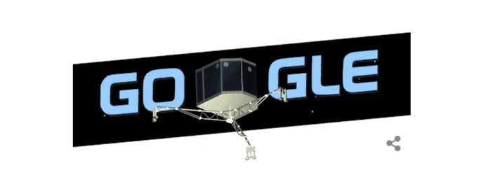 Módulo espacial Philae vira Doodle animado em comemoração a separação da sonda Rosetta  (Foto: Reprodução/Carol Danelli)