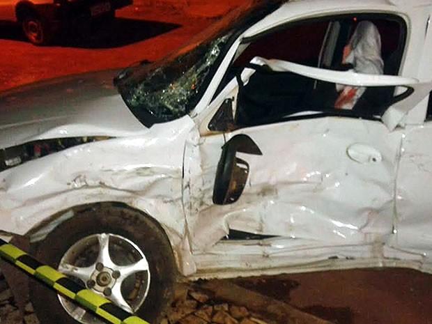 eb5ea300e5f Carro atingido pelo assaltante estava com quatro pessoas e dois bebês  (Foto  4º BPM
