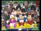 Fátima mostra fotos dos trigêmeos pequenos em festa de aniversário