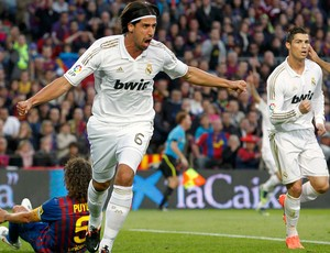 Sami Khedira gol Real Madrid (Foto: Reuters)