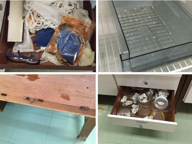 Sala que estava fechada há anos na UnB tinha materiais antigos e restos orgânicos (Foto: Beatriz Pataro/G1)