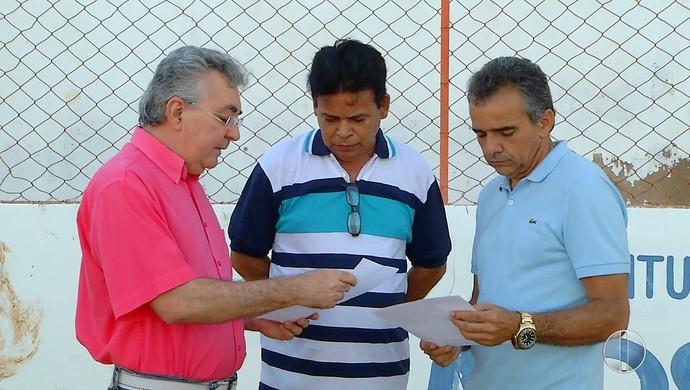 Dirigentes de Potiguar e Baraúnas - Nogueirão (Foto: Reprodução/ Inter TV Cabugi)